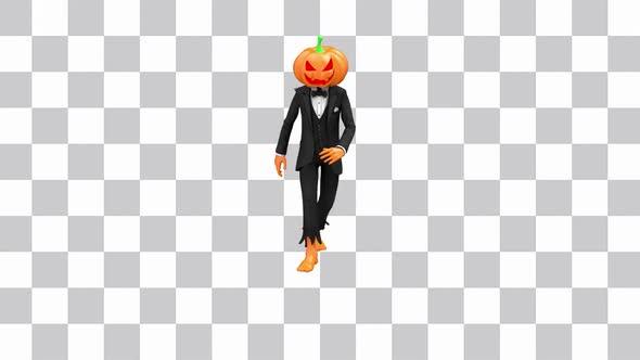 Pumpkin Head Break Dance
