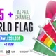 Seamless Loop Of World Flags Footages Pack + Alpha - VideoHive Item for Sale