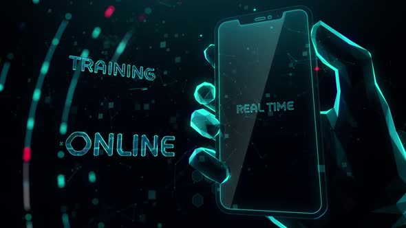 Live Webinar with Digital Technology Concept