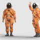Astronaut Rising Hand and Greets - VideoHive Item for Sale